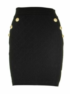 Balmain Short Knit Skirt