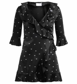 Chiara Ferragni Black Mini Dress With Hearts