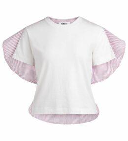Mm6 Maison Margiela White Striped T-shirt