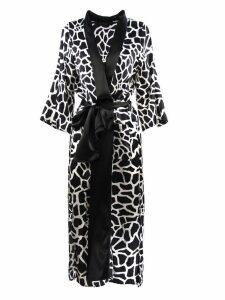 Federica Tosi Monochrome Silk-blend Patterned Dress