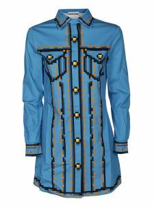 Moschino Blue Printed Shirt