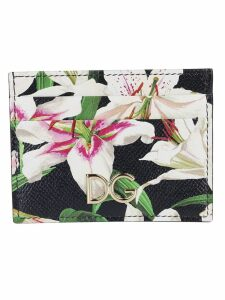 Dolce & Gabbana Lily Print Cardholder