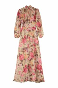 Zimmermann Honour Printed Linen Maxi Dress