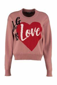 Dolce & Gabbana Intarsia Cashmere Pullover