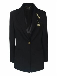 Versace Medusa Safety Pin Logo Blazer