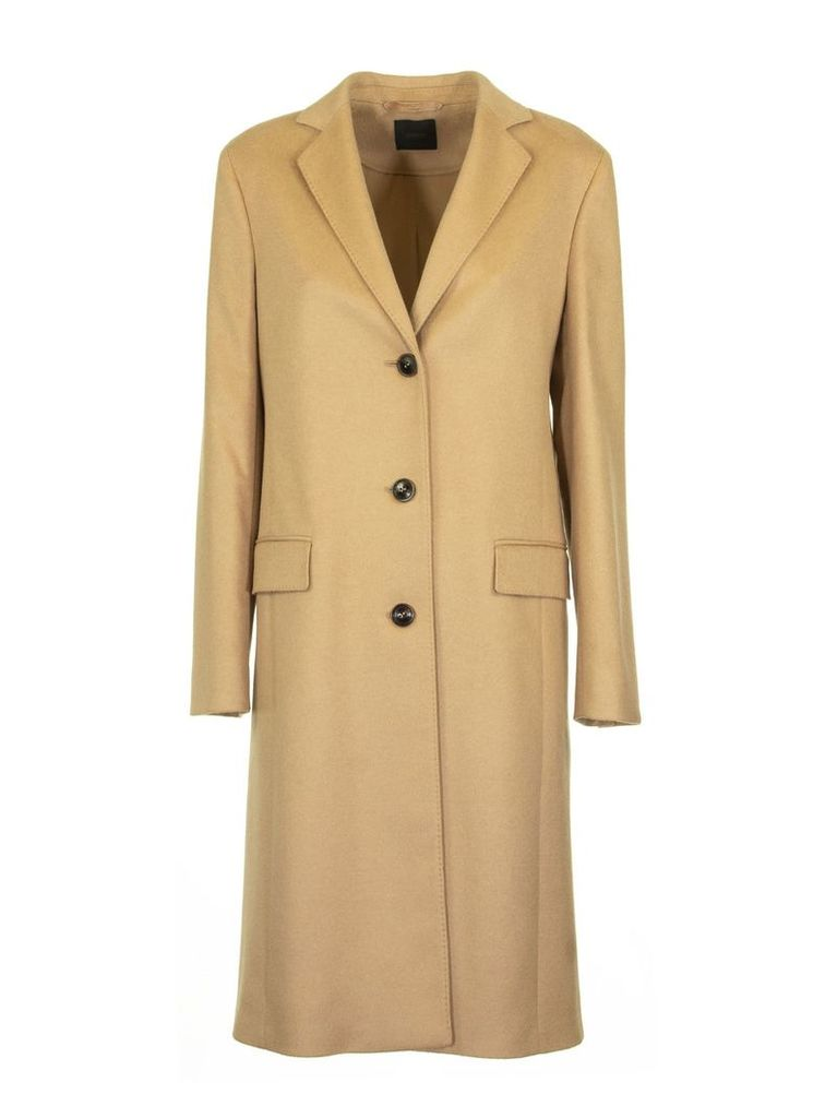 Agnona Cashmere Slim Coat, Camel