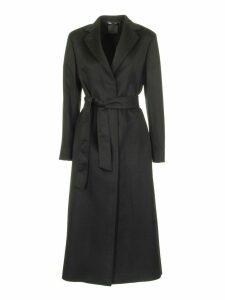 Agnona Cashmere Wrap Coat, Black