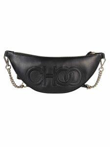 Jimmy Choo Black Leather Travel Bag