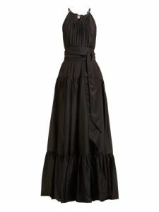 Kalita - Genevieve Belted Silk Habotai Maxi Dress - Womens - Black