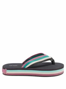 Thierry Colson - Grisette Geometric Print Cotton Blend Skirt - Womens - Blue