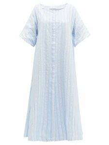 Thierry Colson - Trinidad Striped Midi Dress - Womens - Blue