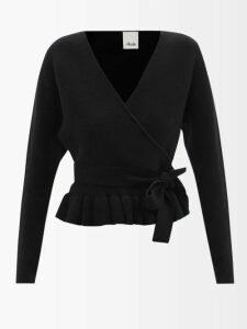 Lisa Marie Fernandez - Ruffled Tie Waist Linen Blend Dress - Womens - Red