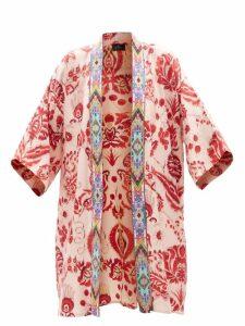 Lisa Marie Fernandez - Laura Ruffled Metallic Midi Dress - Womens - Gold