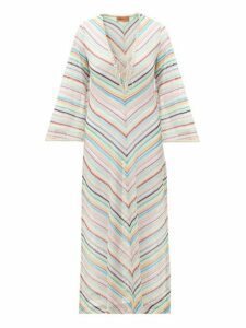 Missoni Mare - Stripe Lace Trim Knitted Kaftan - Womens - Multi