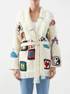 Loup Charmant - Balloon Sleeve Cotton Dress - Womens - Green