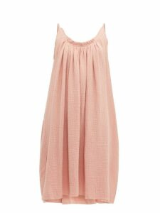 Loup Charmant - Gather Shortie Cotton Gauze Dress - Womens - Pink