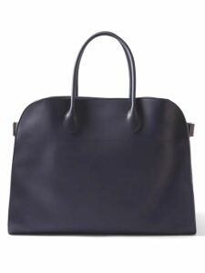 Luisa Beccaria - Square Neck Lace Trim Embroidered Cotton Dress - Womens - Blue