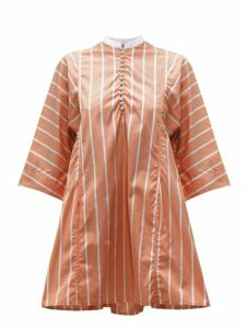 Thierry Colson - Rachel Striped Cotton Kaftan - Womens - Brown