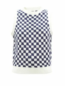 Gül Hürgel - Floral And Polka Dot Print Poplin Maxi Dress - Womens - Red White
