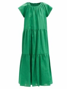 Gül Hürgel - Floral Print Tiered Sleeve Poplin Dress - Womens - Multi