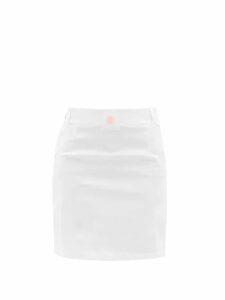 Love Binetti - Balloon Sleeve Checked Crepe Mini Dress - Womens - Pink