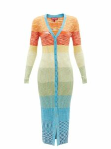Extreme Cashmere - Knitted Stretch Cashmere Cape - Womens - Blue