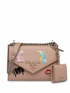 Prada Monochrome Saffiano shoulder bag - Neutrals
