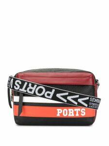 Ports V logo stripe shoulder bag - Multicolour