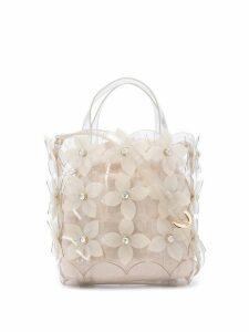 Zac Zac Posen Floral Bouquet Small North/South Shopper bag - White
