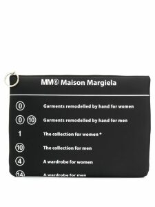 Mm6 Maison Margiela printed clutch bag - Black