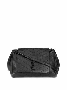 Saint Laurent calf leather monogrammed bag - Black
