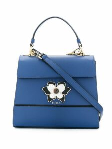 Furla enamelled plaque tote - Blue