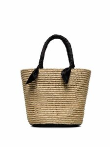Sensi Studio medium woven basket bag - Neutrals