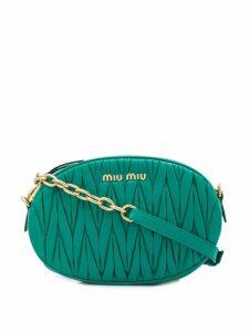 Miu Miu Matelassé crossbody bag - Green