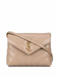 Saint Laurent monogrammed envelope shoulder bag - Grey