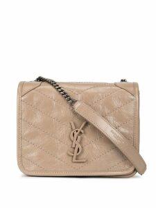 Saint Laurent wrinkled effect shoulder bag - Grey