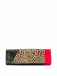 Giuseppe Zanotti colour-block clutch - Black