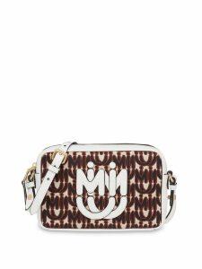 Miu Miu Jacquard and Madras leather shoulder bag - Silver