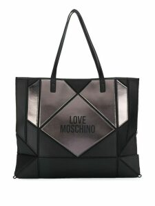 Love Moschino panelled tote bag - Black