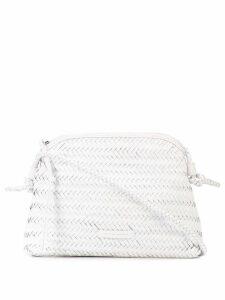 Loeffler Randall woven cross body bag - White