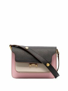 Marni Trunk bicolour cross body bag - Z244m Pink/Black/Beige
