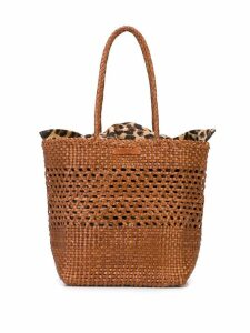 Loeffler Randall woven tote bag - Brown