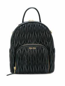 Miu Miu matelassé backpack - Black
