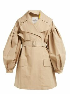 4 Moncler Simone Rocha - Belted Cotton Twill Trench Coat - Womens - Beige