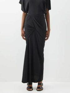 Petar Petrov - Ryan Checked Cotton Wrap Skirt - Womens - Orange Multi