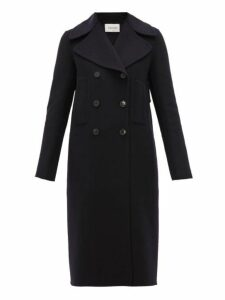 Valentino - Double Breasted Cashmere Coat - Womens - Navy