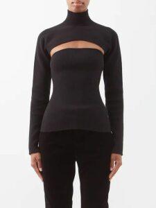 Staud - Vincent Cotton Poplin Midi Shirtdress - Womens - Black