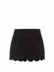 Msgm - Houndstooth Wool Blend Mini Dress - Womens - Brown