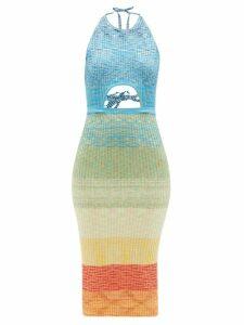 Atm - Slouchy V Neck T Shirt - Womens - Black