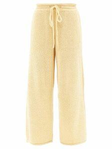 Msgm - Open Back Floral Jacquard Dress - Womens - Brown Multi